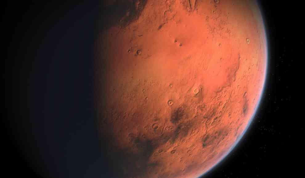 Flugzeit Mars