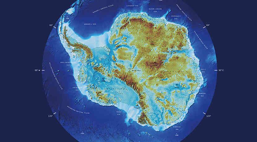 antarktis karte Karte der Antarktis ohne Eis antarktis karte