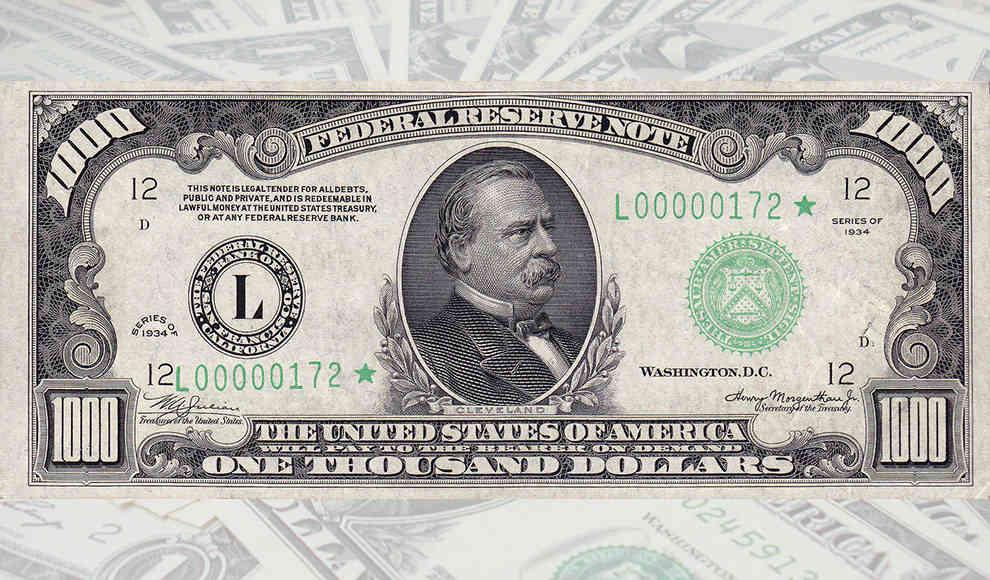 Alle Dollar Scheine